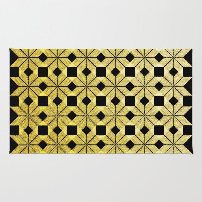 Golden Snow Rug
