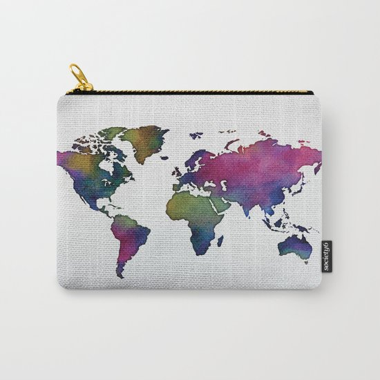 Multicolor World Map 02 Carry-All Pouch