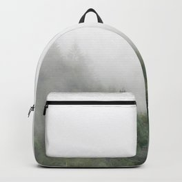 Foggy Oregon forest Backpack