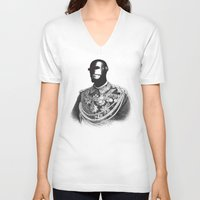 general V-neck T-shirts featuring General Electric by Jorge Lopez