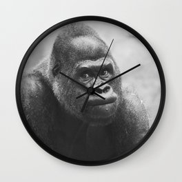 The Look Of A Silver Back Wall Clock