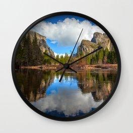 Yosemite Valley View Reflection Wall Clock
