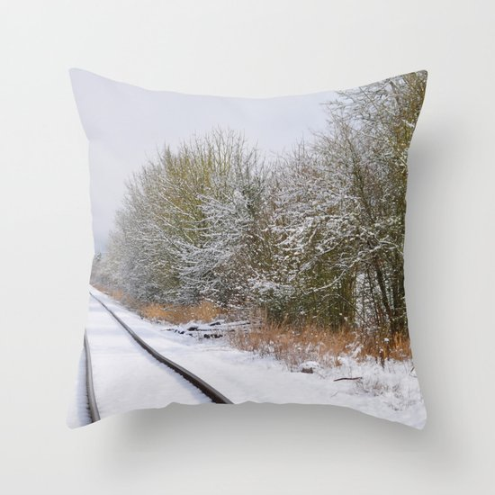 Remnants of a Simpler Time - The Tracks Throw Pillow