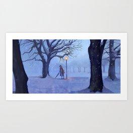 Always Winter, Never Christmas Art Print