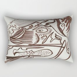 Encre brun Rectangular Pillow
