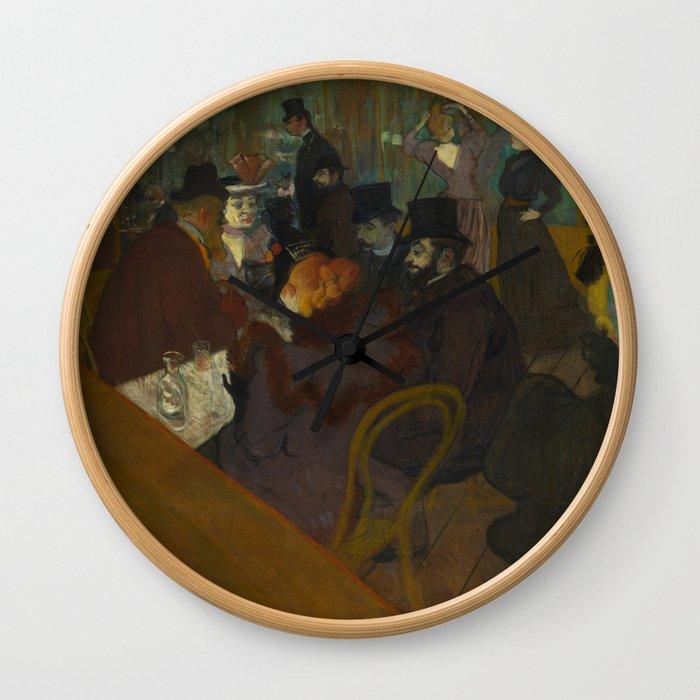 Henri de Toulouse-Lautrec - At the Moullin Rouge Wall Clock