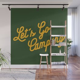 Let's Go Camping Wall Mural