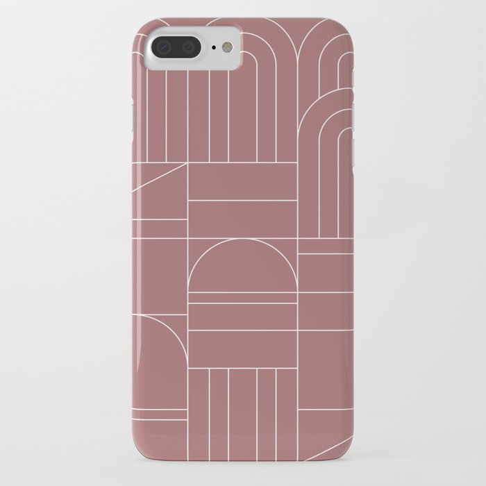 Deco Geometric 04 Dark Pink iPhone Case