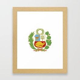 Peru Shield Framed Art Print