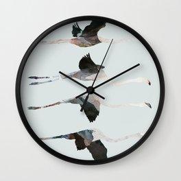 Flamingos MIgration Wall Clock