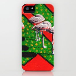 Sleeping flamingos during Siesta iPhone Case
