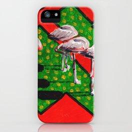 Sleeping flamingos during Siesta iPhone Case