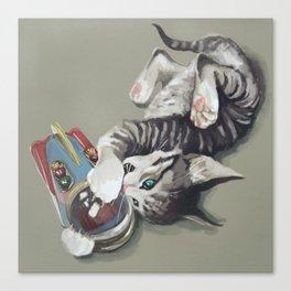 Spaceship kitten Canvas Print