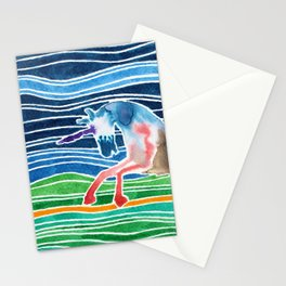Unicorn - Licorne - Unicornio - Einhorn Stationery Cards