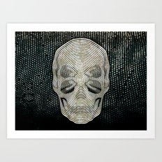 Twilight 4 Eyes Skull Art Print