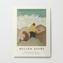Poster-Milton Avery-Sketching by the Sea . Metal Print