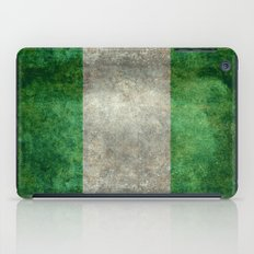 National flag of Nigeria, Vintage textured version iPad Case