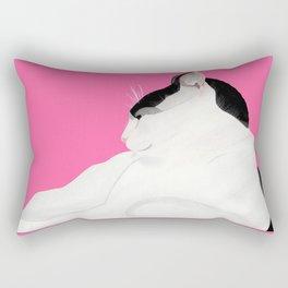 Hot Pink Touss Rectangular Pillow