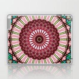 Mandala in red, light and dark green Laptop & iPad Skin