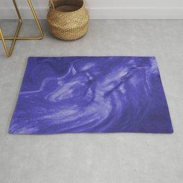 Flowing Deep Purple Pearlescent Haze Fluid Art Illustration Rug