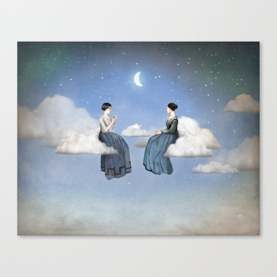 Wind, Clouds and Tea Canvas Print