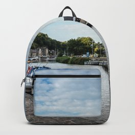 The habour of the city of Dinan Backpack