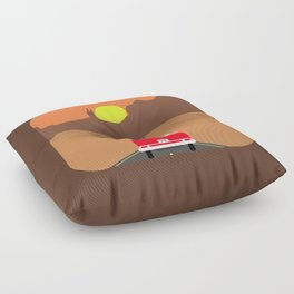 On the road Floor Pillow