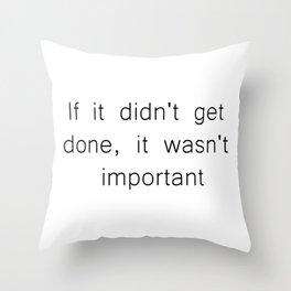 The Procrastinator's Creed Throw Pillow