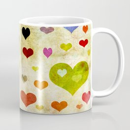 Grunge Hearts Coffee Mug