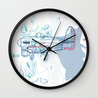 underwater Wall Clocks featuring Underwater by March Hunger