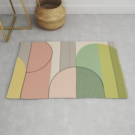 Abstract Arches I Rug