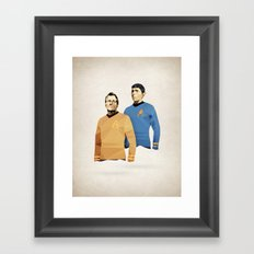 Polygon Heroes - Star Trek O.G. Framed Art Print