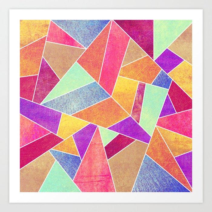 Colorful Stone Art Print