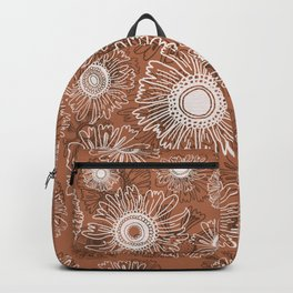 Fall flower pattern - fawn Backpack