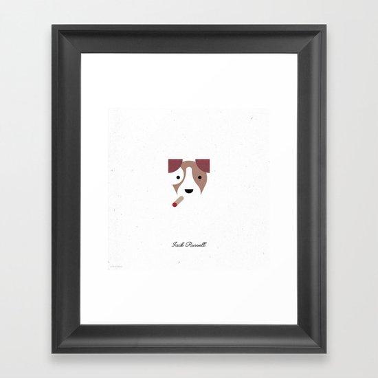 Pedigree: Jack Russell Framed Art Print