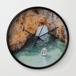 boat life iii / lagos, portugal Wall Clock