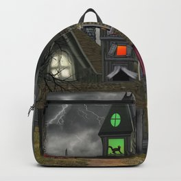 Halloween Haunted Mansion Backpack