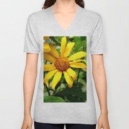 yellow daisys Unisex V-Neck