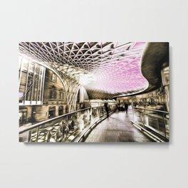 Futuristic London Art Metal Print