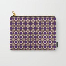 PUPRLE RETRO PATTERN  Carry-All Pouch