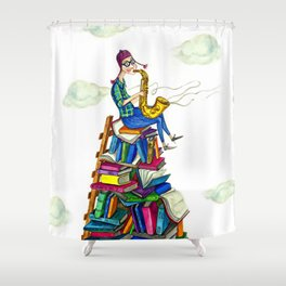 Jazzy books Shower Curtain
