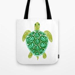 Sea Turtle – Green Palette Tote Bag
