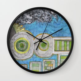 Blue and the Transformation Process  Wall Clock