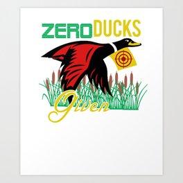 Zero Ducks Given Duck Hunter Bulls Eye  Art Print