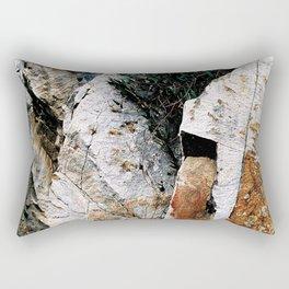 Rock Face Near Windamere Dam Rectangular Pillow
