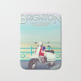 Brighton Union Scooter travel poster, Bath Mat