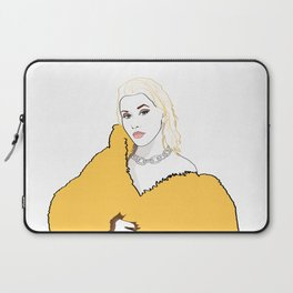 CHRISTINA AGUILERA LIBERATION Yellow Fur Jacket Laptop Sleeve
