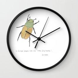 Little July beetle Wall Clock