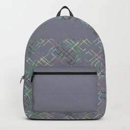 Gray combined pattern. Backpack