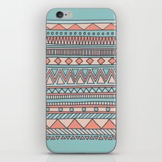 Tribal #4 (Coral/Aqua) iPhone Skin